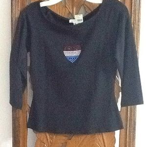 Cache 3/4 sleeve shirt